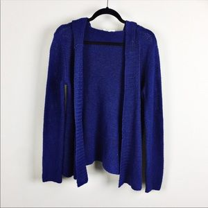 Eileen Fisher | Blue Hooded Cardigan